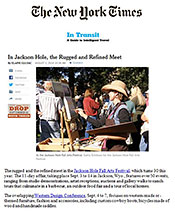 New York Times for Jackson Hole Fall Arts Festival