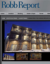 The Robb Report for The Landing Resort and Spa
