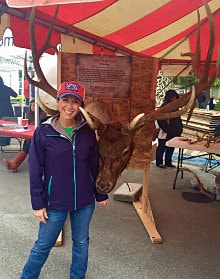 Giant antlers at Elkfest