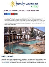 Antlers at Vail in Family Vacation Critic