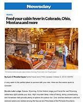 Brooks Lake Lodge in Newsday Travel