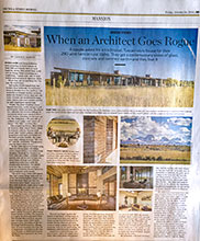 The Wall Street Journal for W+B Architects